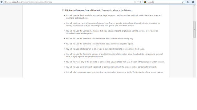 US.Search terms and conditions