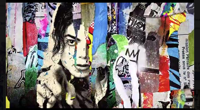 Backstory michael jackson xscape mural by mr brainwash for Mural mr brainwash