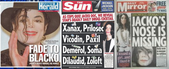 Note: images of tabloid headlines updated 2/13/15 for accuracy.