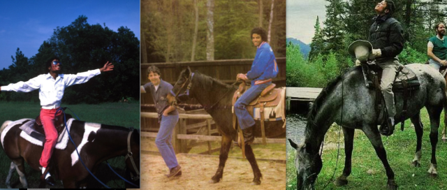Michael Jackson on horseback over the yrs.
