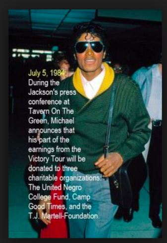 MJ annpuince's Victory charity